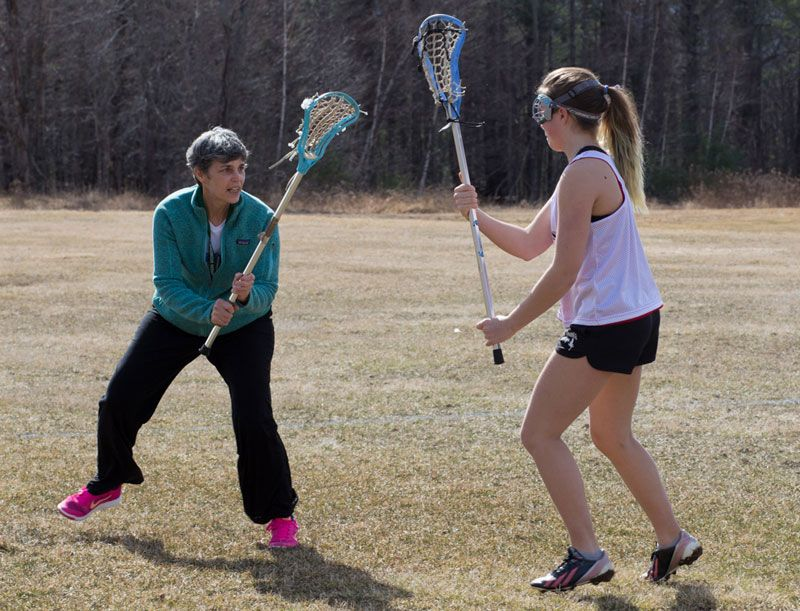Lacrosse Teacher Wendy Fielding and Senior Lucy Ward