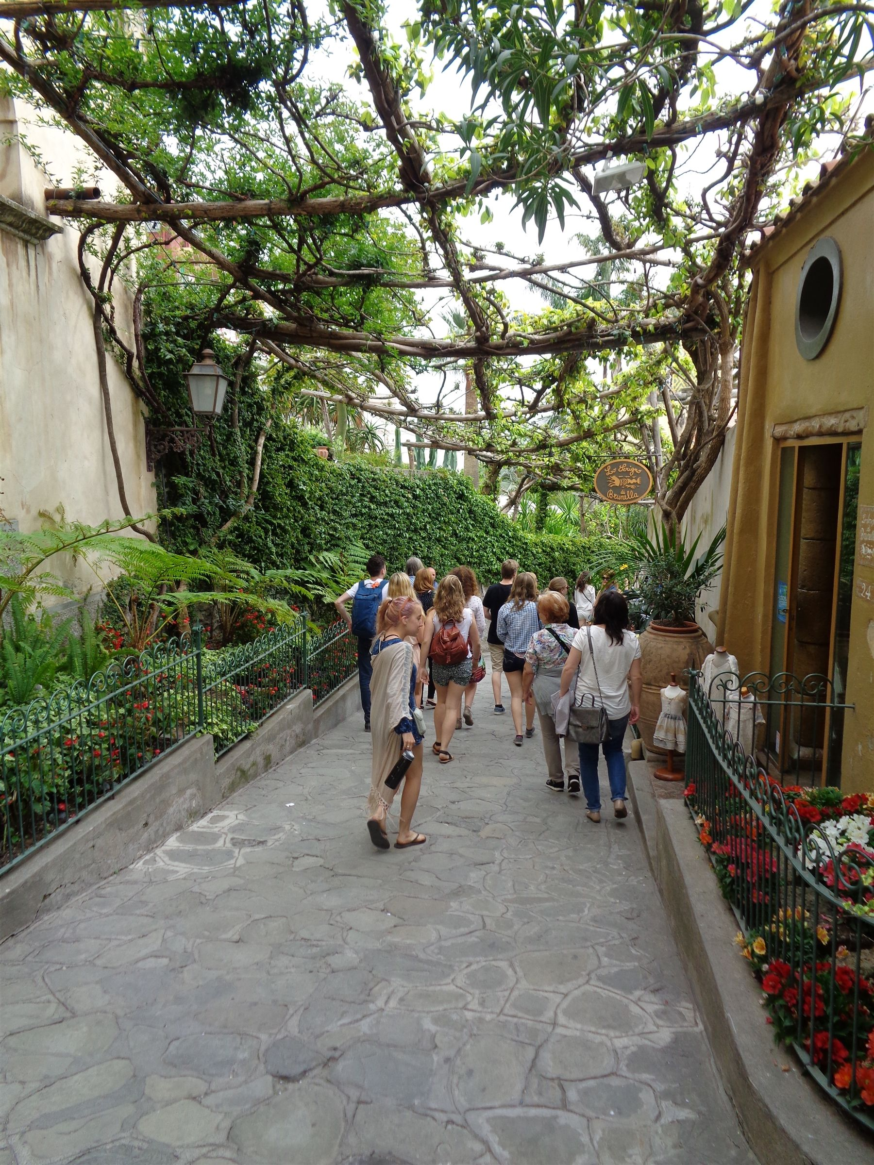 Our Italy Projects Block strolling into the town of Positano on the Amalfi Coast.