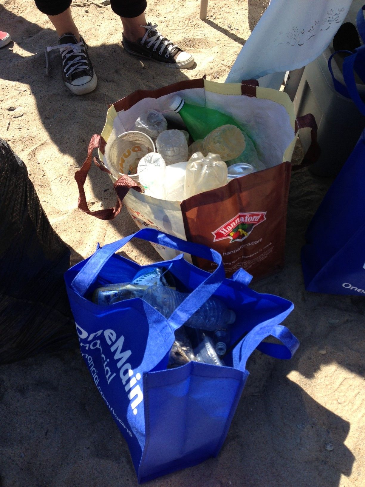 Nearly 60 lbs of trash was collected from the beach over the course of just a few hours!
