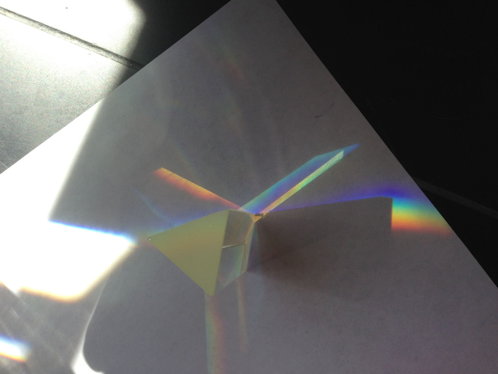 Rainbow light dispersion.