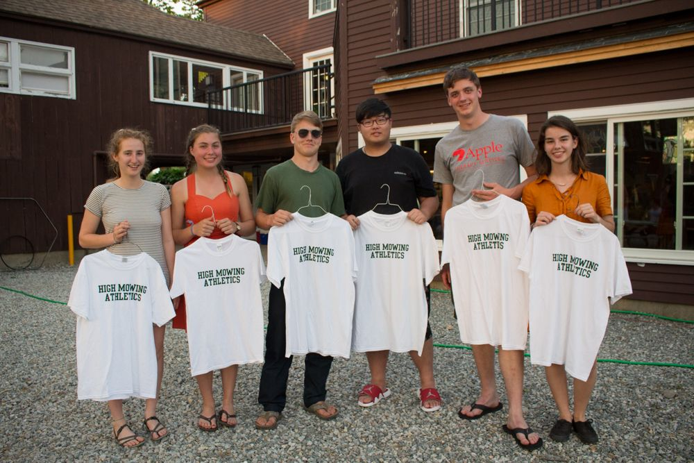 Our graduating athletes were presented with vintage HMS athletic gear!