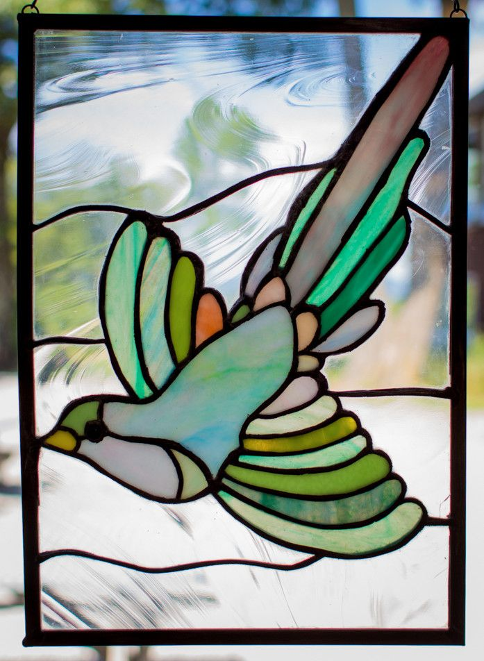 Stained glass bird by Saskia Fourmon