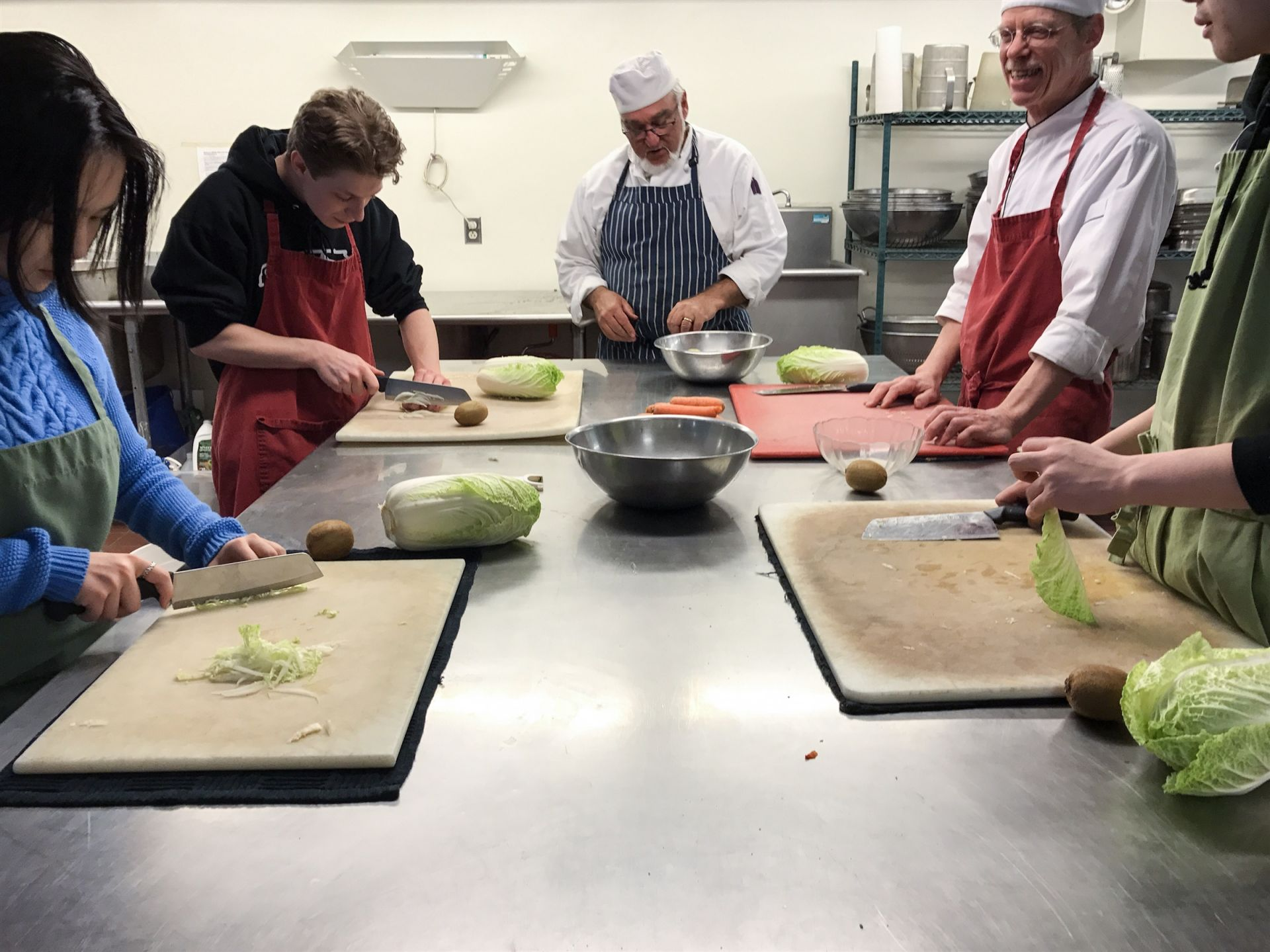 Under instruction of head chefs Evan Fielding and Victor Beguin, the culinary class learns the science behind cooking while helping prepare dinner for the rest of the school.