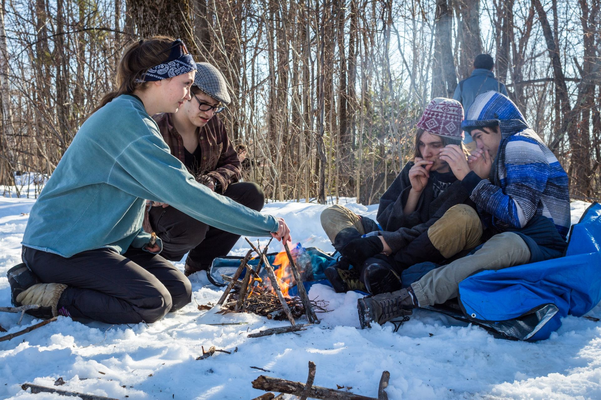 During the scenario, two members of the group had the beginning stages of hypothermia. It was up to the rest of the group to determine the best course of action to save their friends.