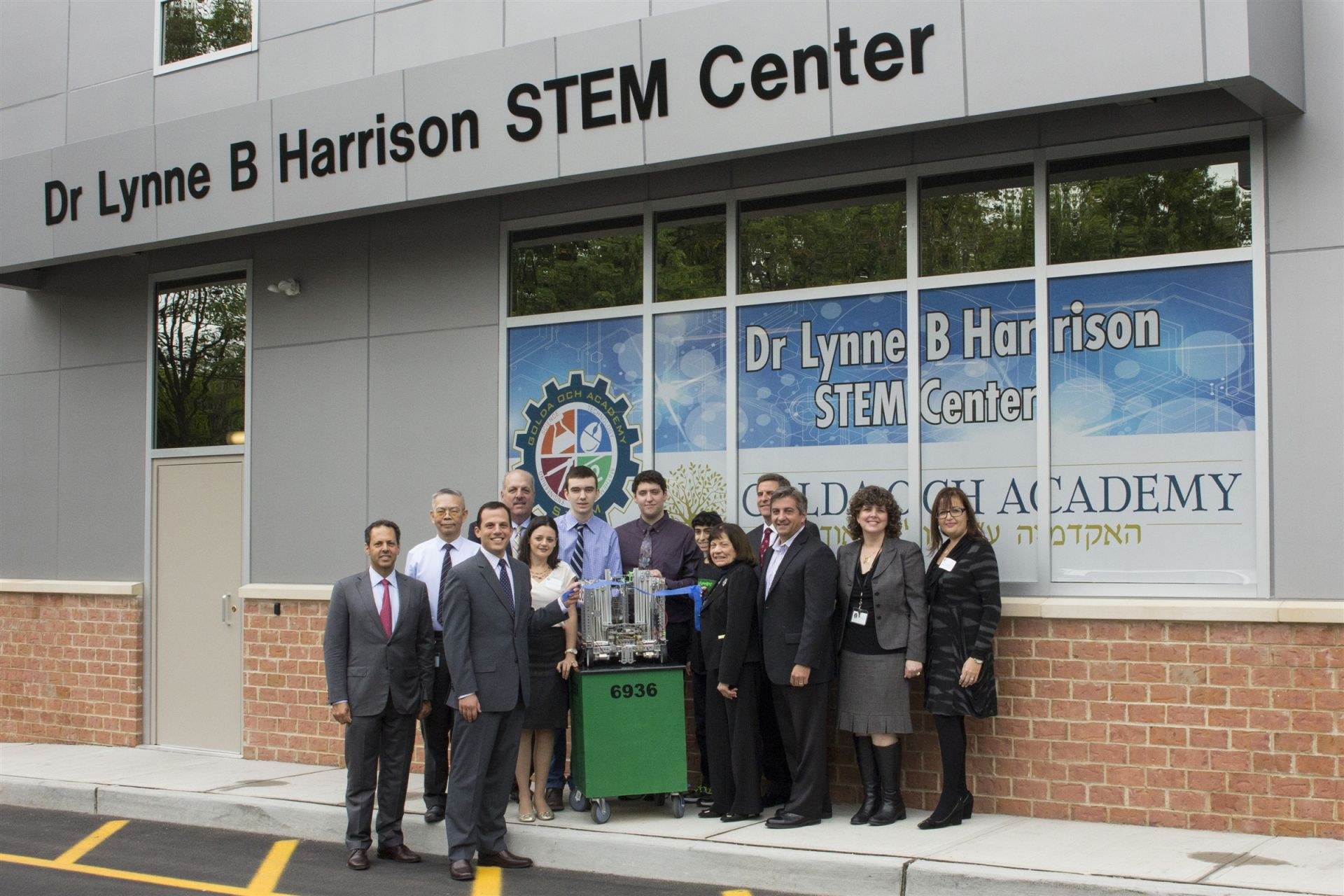 Celebrating the ribbon-cutting of the state-of-the-art Dr Lynne B Harrison STEM Center