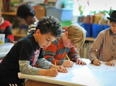 Each child is engaged at his or her level, in keeping with FCS's Progressive underpinnings.