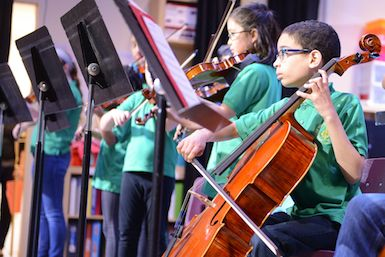 FCS offers after-school instrumental music lessons.
