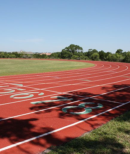The track and football field