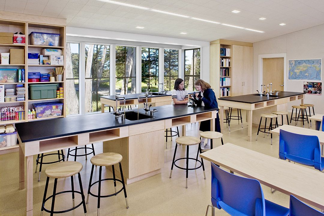The Upper School science lab is one of three dedicated labs on campus.