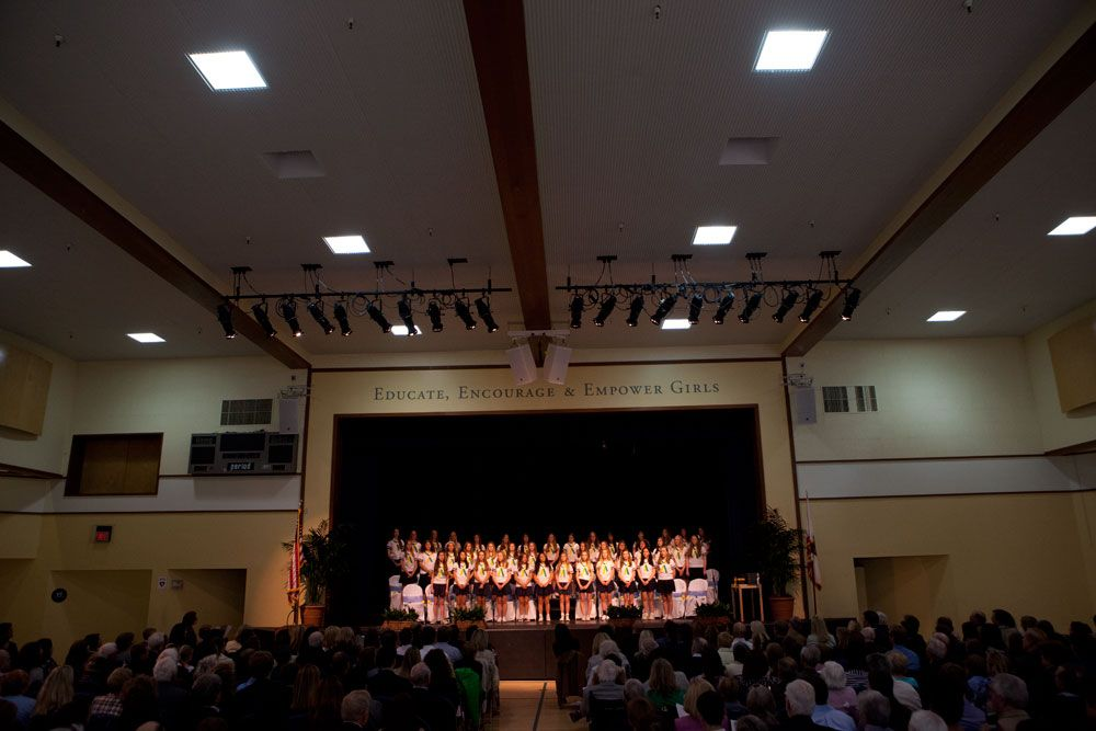 The Gymnasium hosts many performing arts events and athletic games throughout the year, as well as graduation.