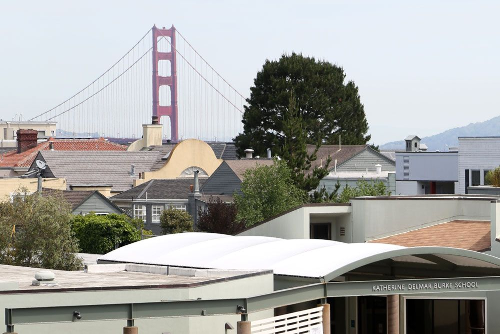 On clear days, the Golden Gate Bridge is visible from many parts of campus.