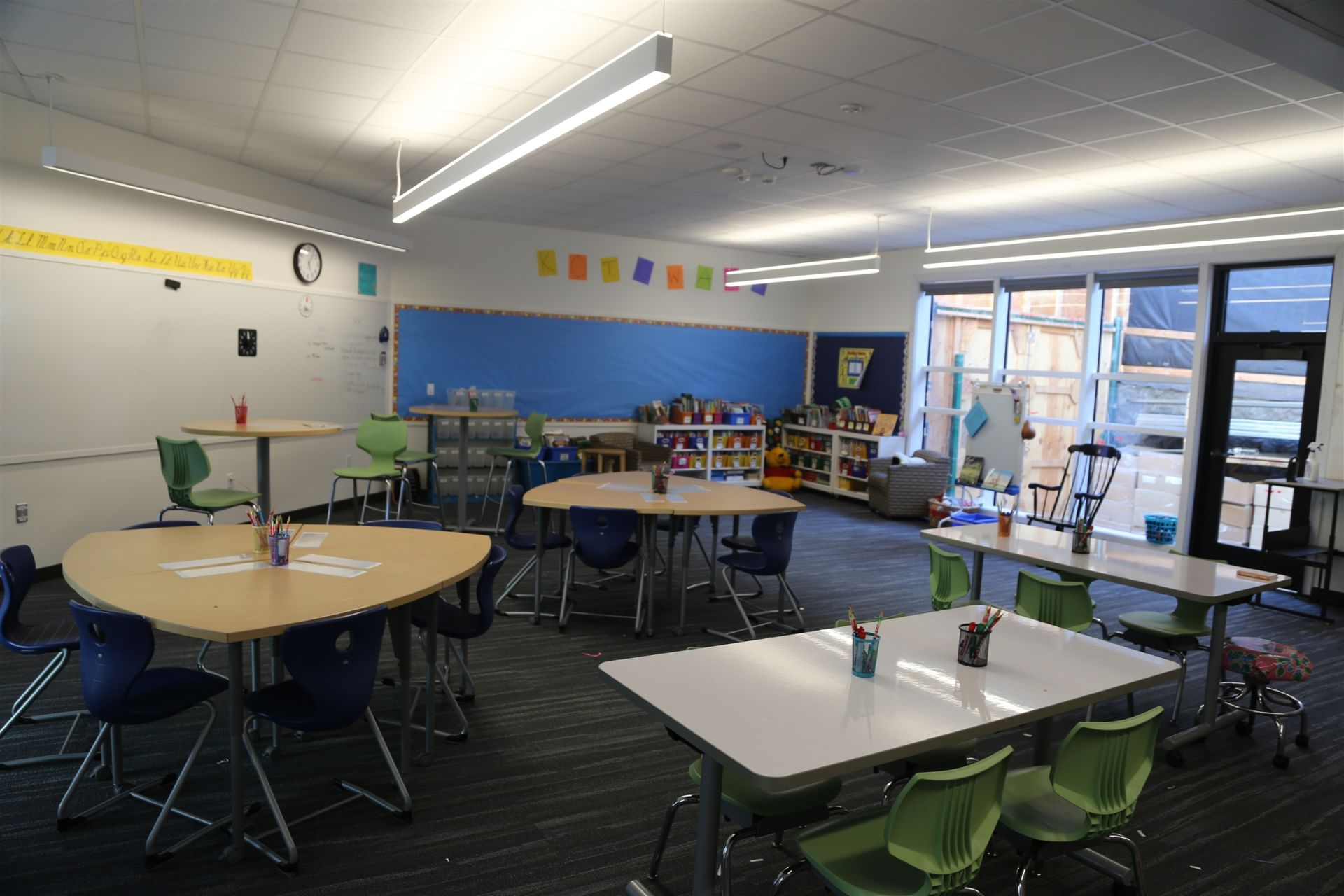 As of the 2018-19 school year, all Lower School classrooms are outfitted with flexible furniture, high-tech windows, updated utilities, and everything teachers and students need for project-based learning.