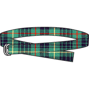 Plaid belt, to wear with pants