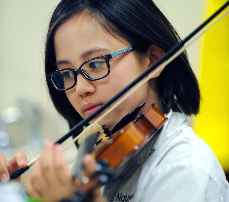 Students have opportunities to participate in orchestra, chorus, recorder, and individual or group piano lessons.