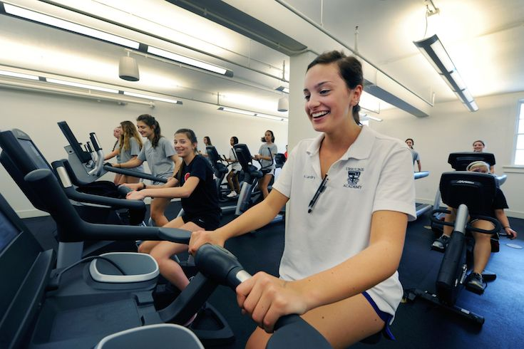 In 2013, Ursuline opened the Fitness and Wellness Center. The 18,910 square foot facility includes a dance/yoga studio, indoor elevated track, practice volleyball and basketball court, fully-equipped weight room, extensive cardio room, multi-media classroom, and athletic conference room. A new softball field, batting cage, and courtyard are just steps away from the facility.