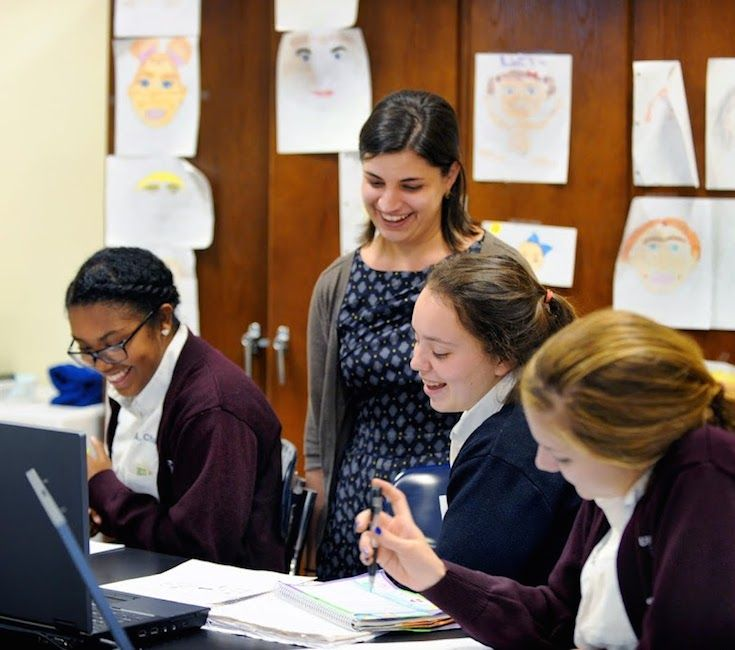 Ursuline's faculty is committed to helping each student succeed. Our low student/teacher ratio provides  opportunities for individualized attention.