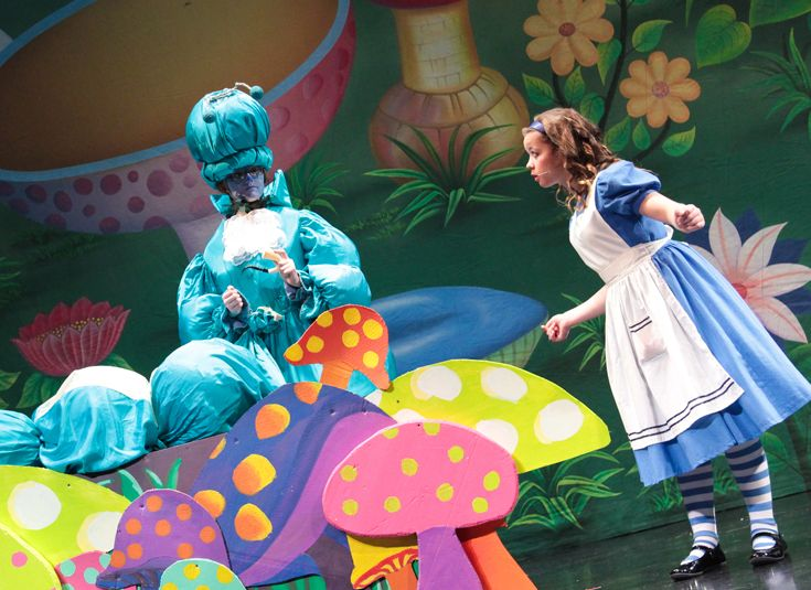 Middle School production of 'Alice in Wonderland'