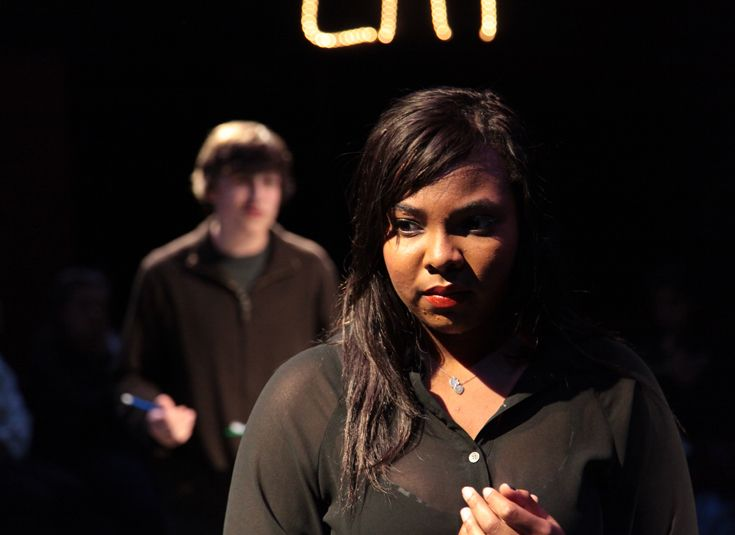 Upper school production of 'Eat (It's Not About Food)' in the Scinta Black Box Theater.