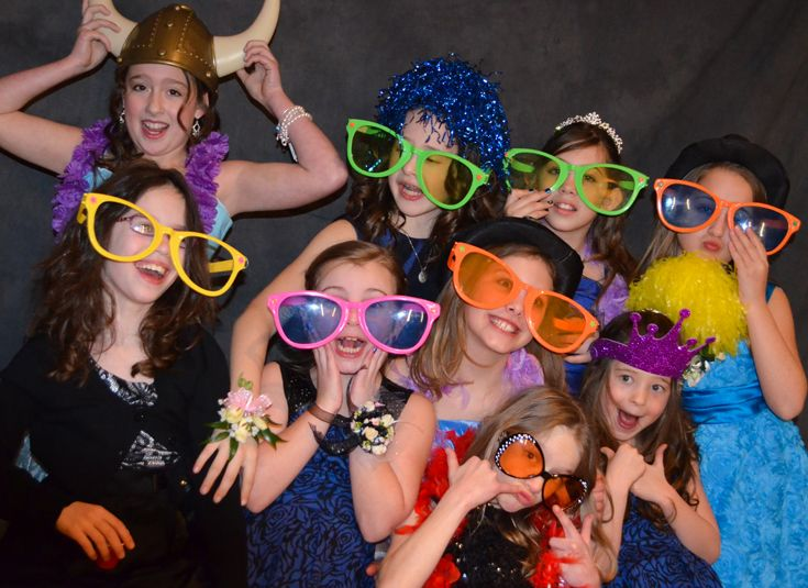 Lower school girls pose for a photo at the annual Sweetheart Dance