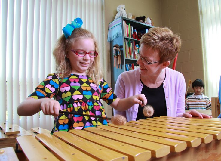 Lower school students spend class time making music