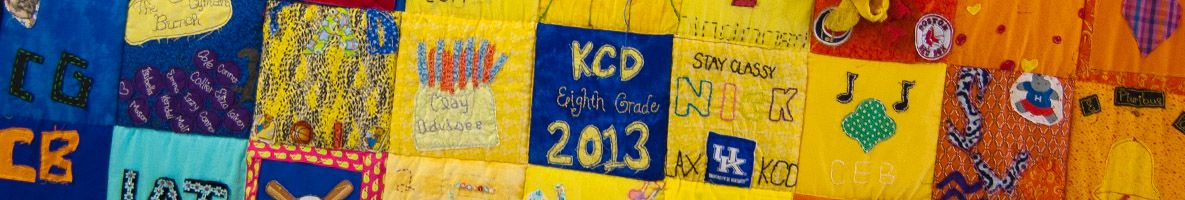 Eighth grade students have a tradition of making a class quilt each year