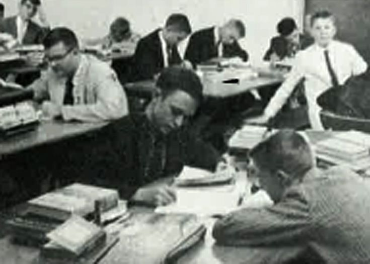 Students hard at work, 1960