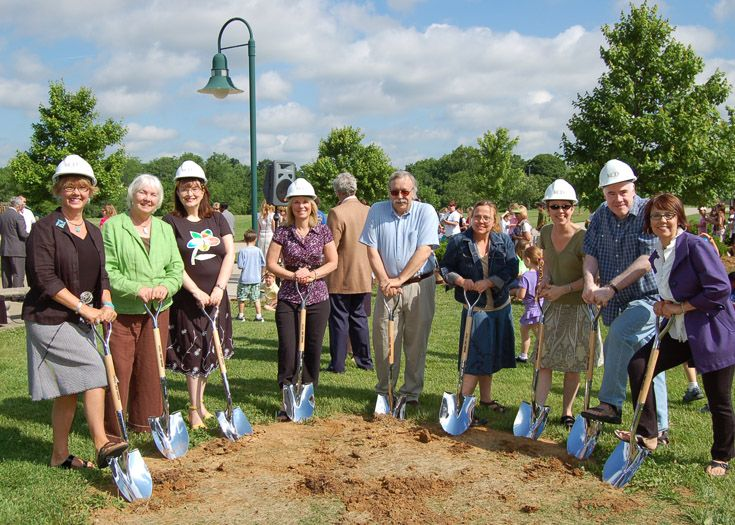 The fine arts department breaks ground for the new theater in 2009.