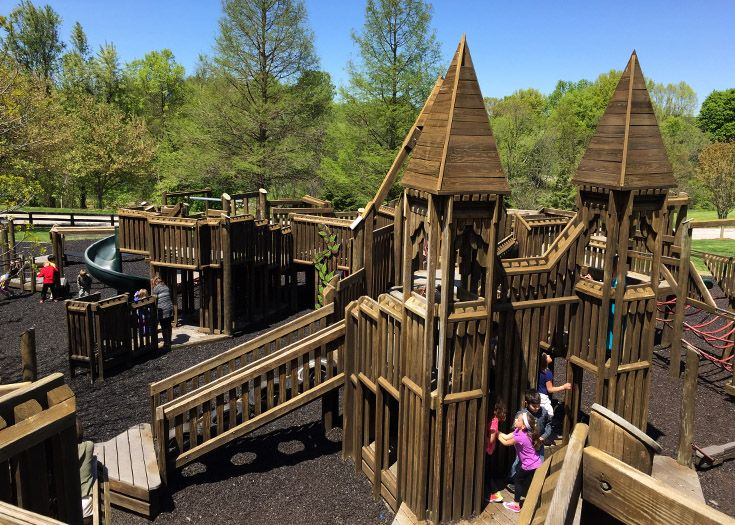 This elaborate playground is used by the Lower School.