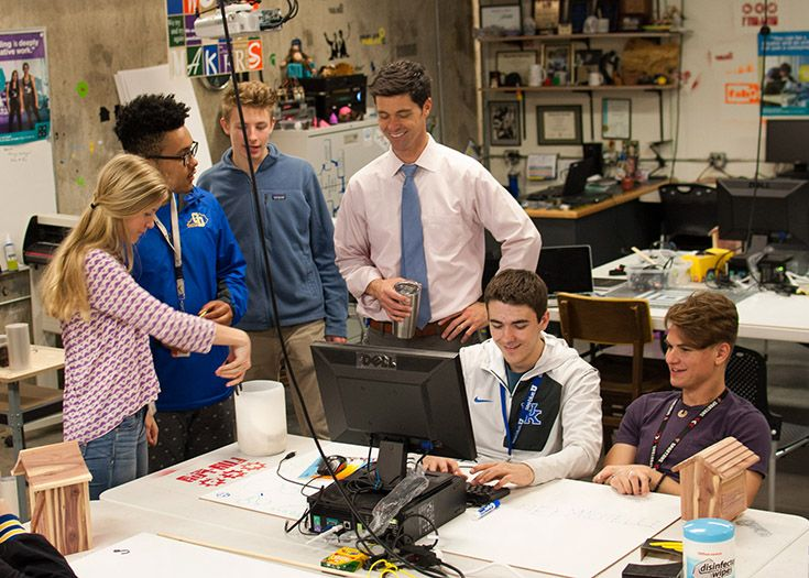 The KCD Fab Lab gives students access to 3D printers, laser and vinyl cutters, and many other tools.