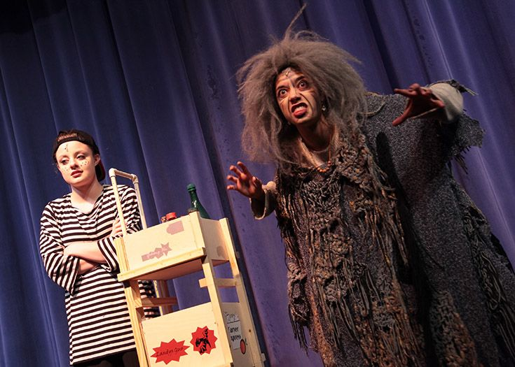 A thriving drama program puts on two middle school and two upper school productions each year.