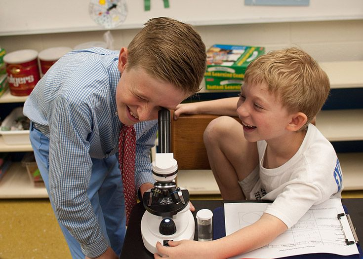 The Lower School offers an inquiry-based science program.