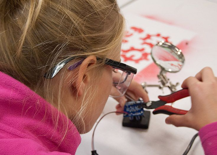 Our hands-on STEAM curriculum helps students become makers.