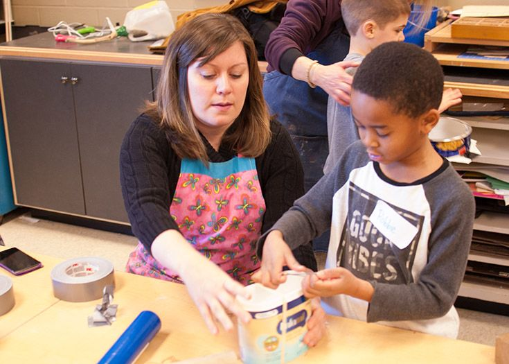 Lower school science students experience several interdisciplinary STEAM units.