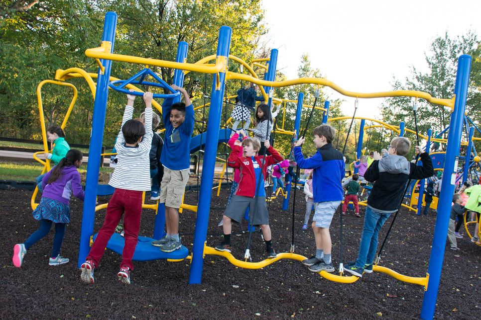 The Parent Association funded the new playground for lower and middle school students.