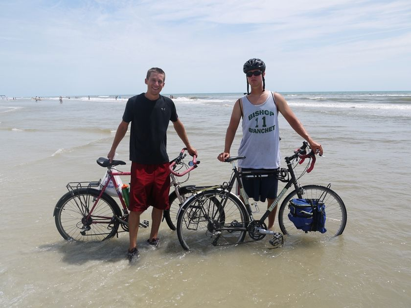 David Gardner '07 and Nate Garberich '08 cycled across the US