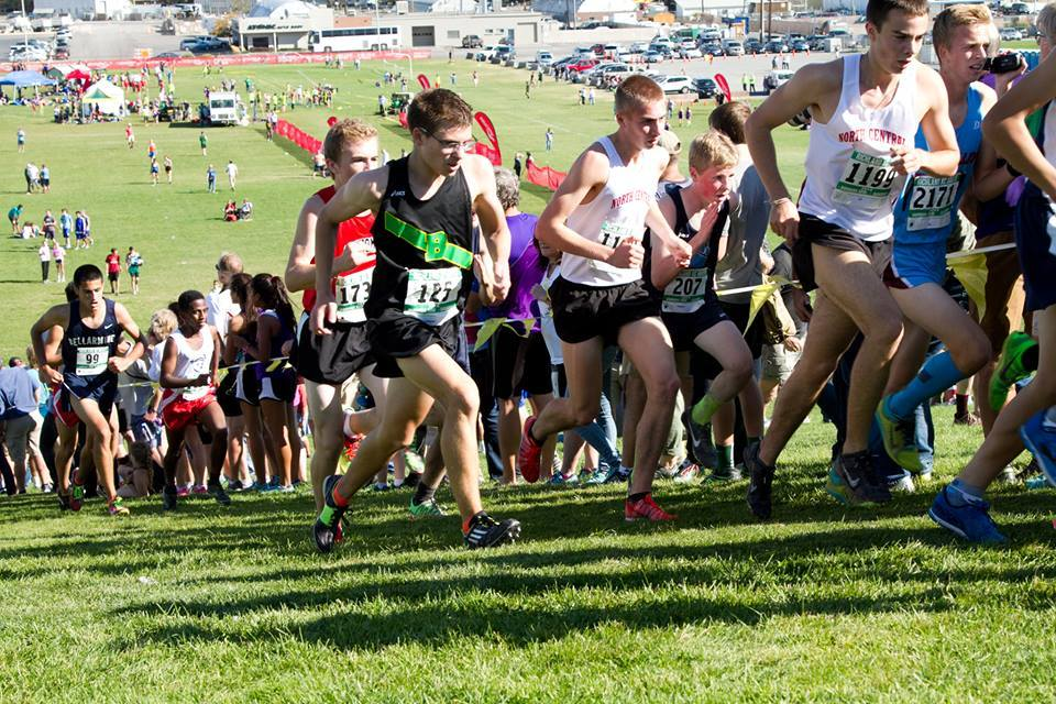 Connor Rauch (11) racing at the 2015 Richland Invite - 27th place - 16:43