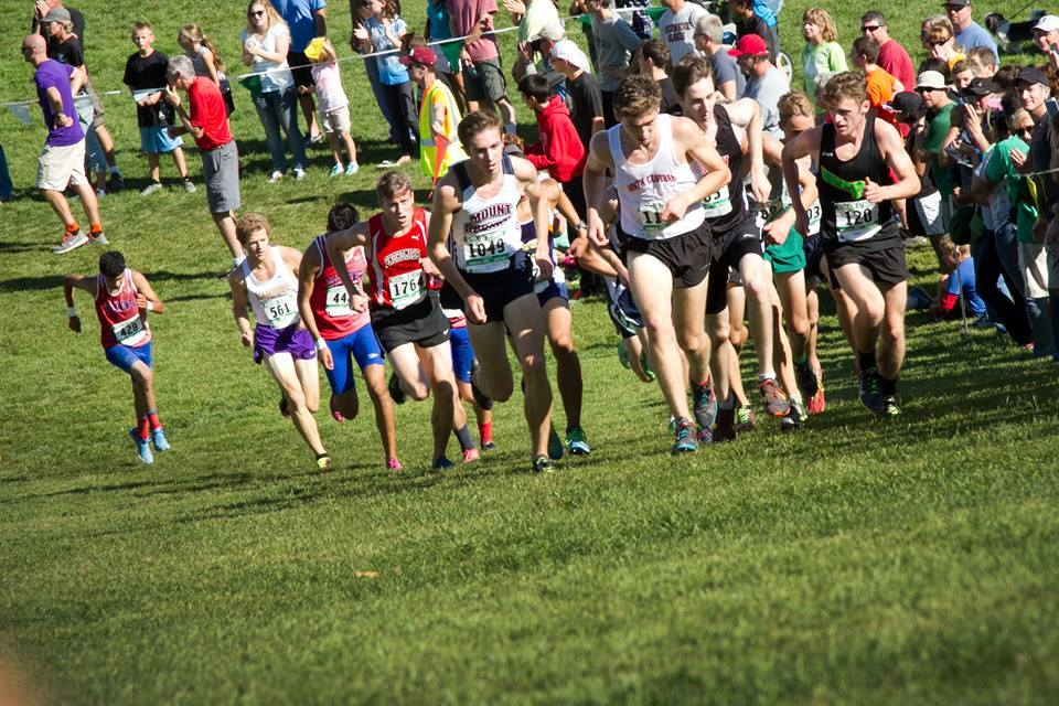 Peter Hogan (12) racing at the 2015 Richland Invite - 4th place - 15:55