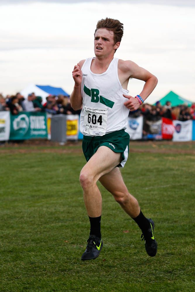 Peter Hogan - 3rd Place in State XC, 15:20. Photo by John Greengo '85.