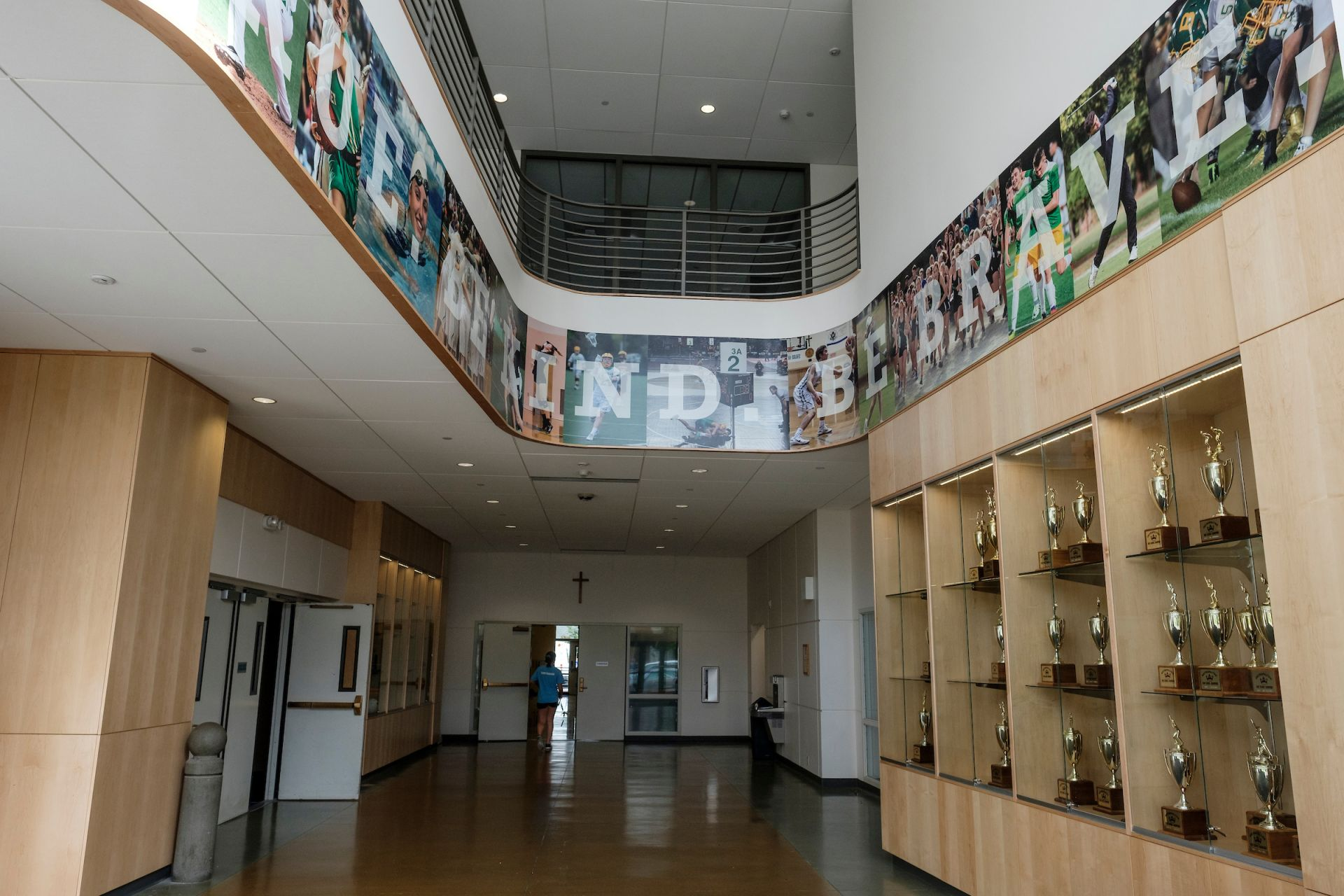 The Ernie Rose Activities Center opened last fall and provides our students with state of the art training and educational space. The lobby features the school motto,