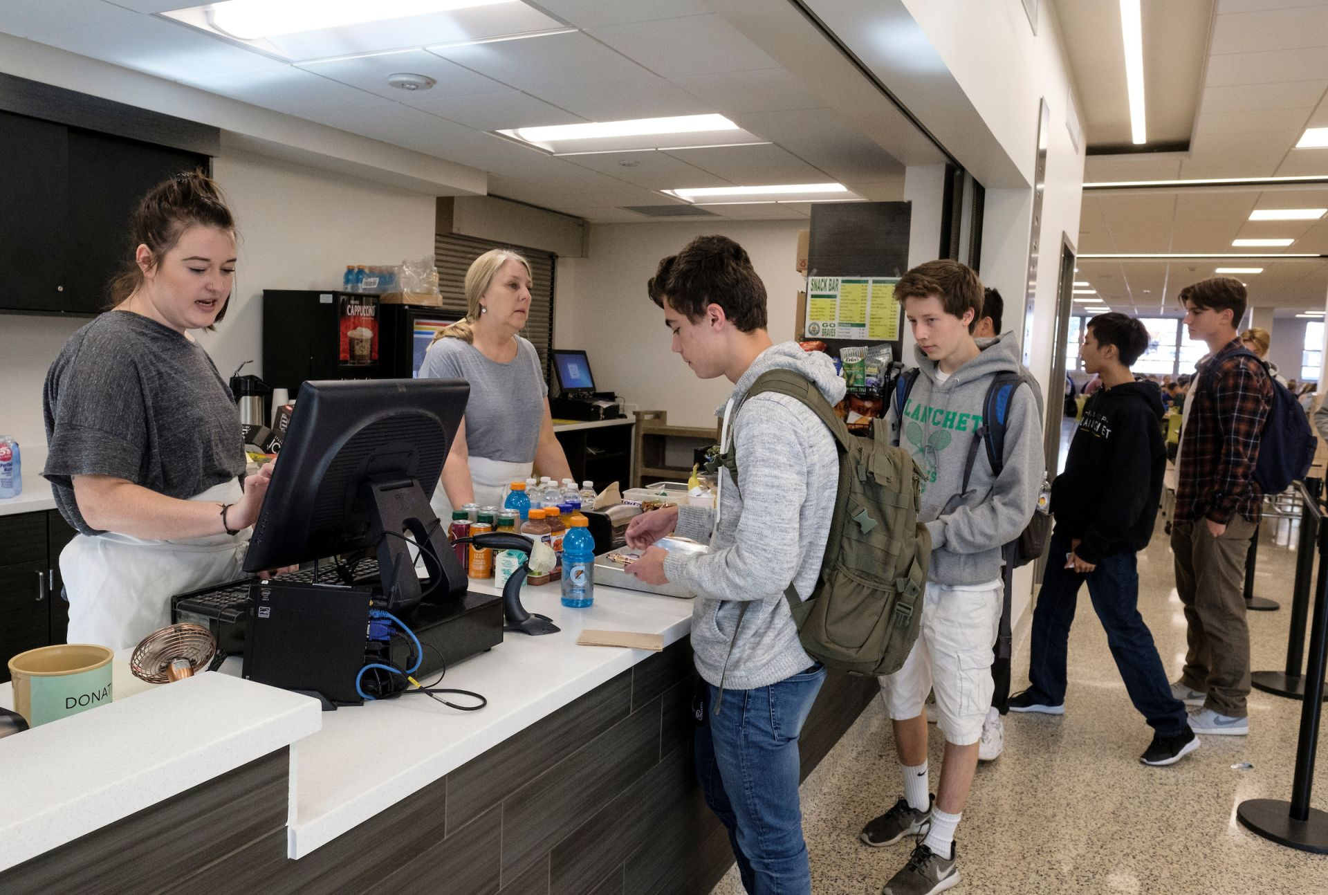 Our new Brave Cafe--stocked with a state of the art espresso machine and staffed by a full-time barista-- serves up tasty snacks and drinks to students and faculty.