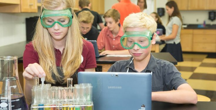 State-of-the-art science labs enable students to create critical links between various curricula as encouraged by the IB Middle Years Program.