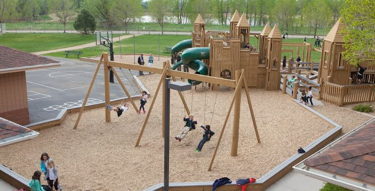 BCD students love the playground at Boulder Country Day where recess offers a new adventure each day.