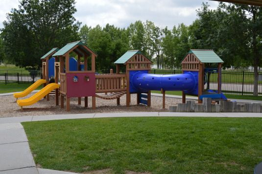 Our preschoolers enjoy their own private, adventuresome playground each day.