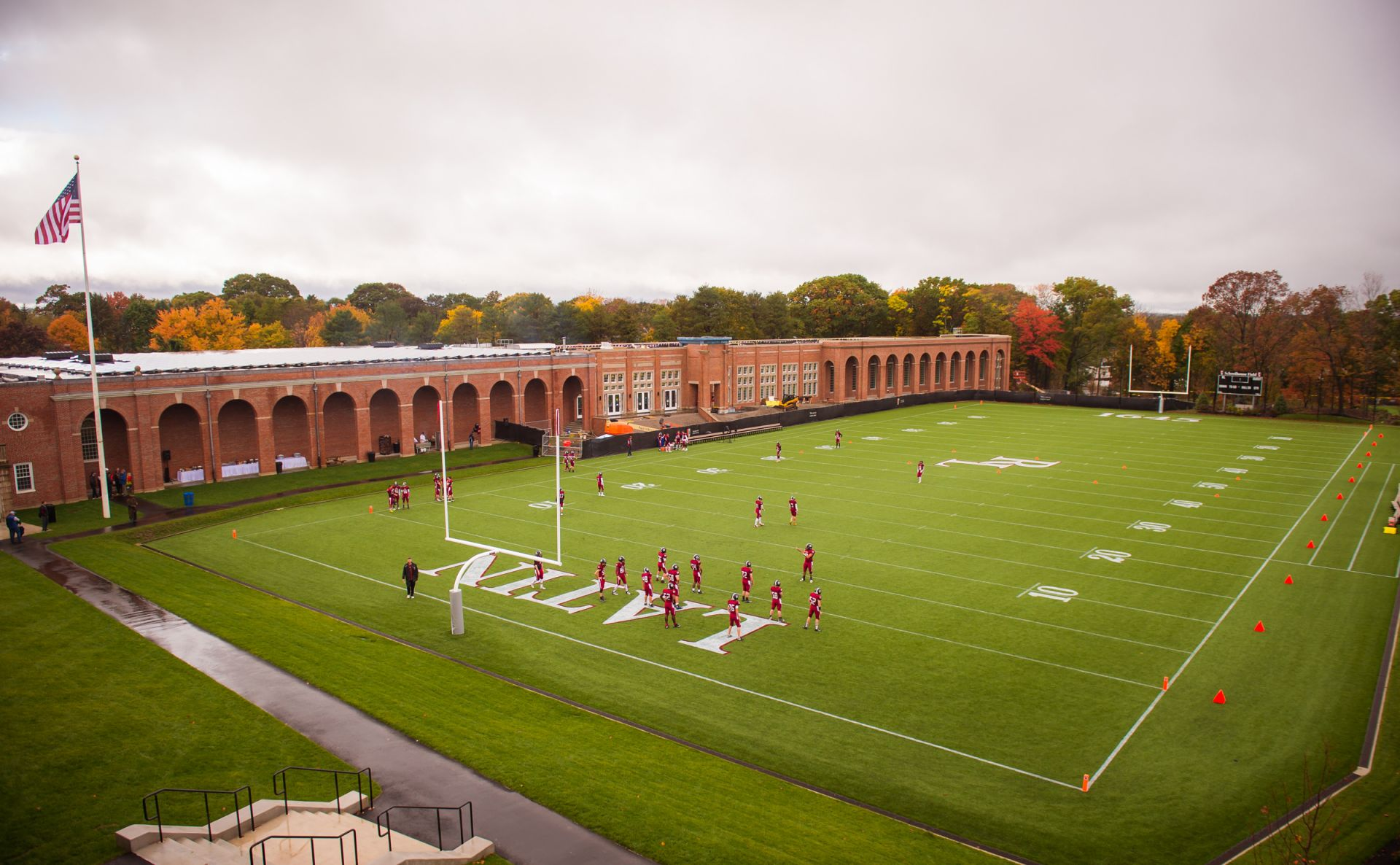Homecoming Day with Indoor Athletic Facility in distance