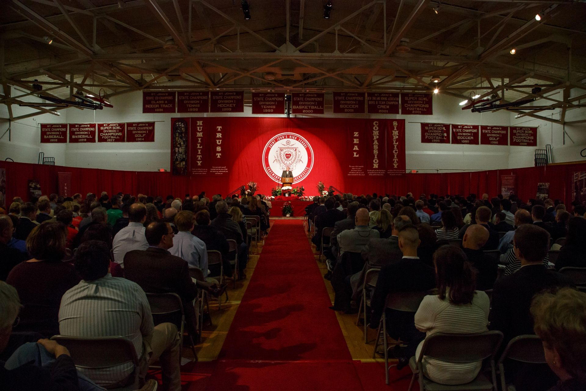 Students, faculty, alumni, and guests filled the Coaches Pavilion for the 13th annual Abdella lecture