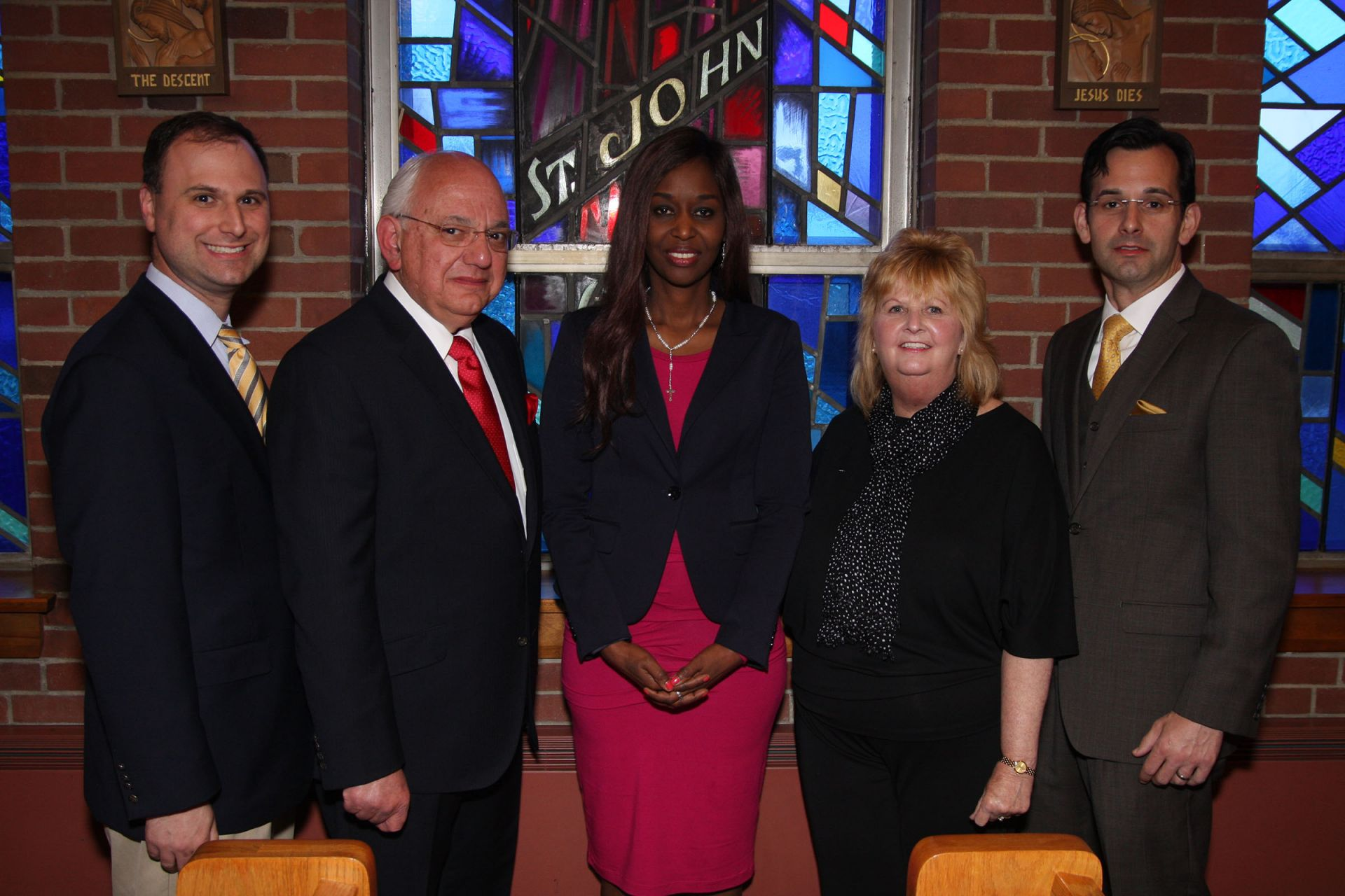 Immaculee Ilibagiza and the Abdella family in the Chapel