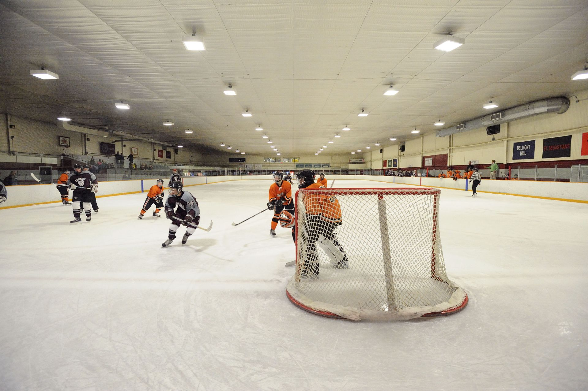 The Fessenden Ice Rink: Fessenden has an indoor ice rink and and skate shop.