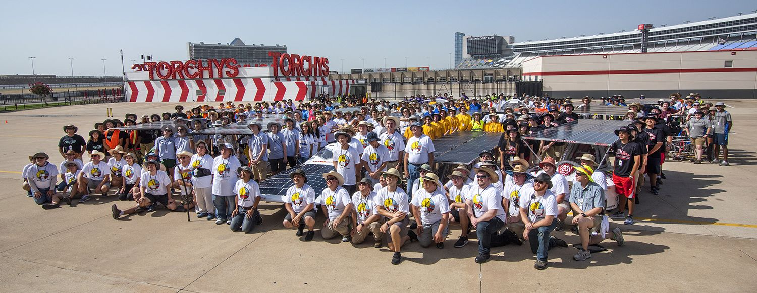 2018 Solar Car Teams at Texas Motor Speedway