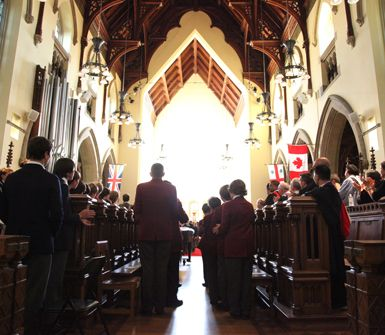 We conduct services according to the standards of the Anglican Church of Canada.