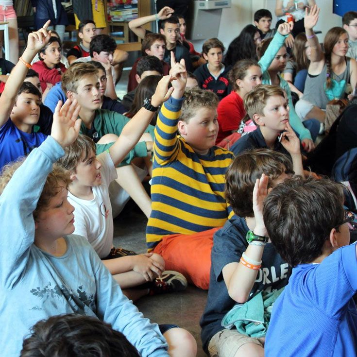 Campers answer questions about Canadian history – for prizes!